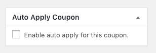 Automatically Apply WooCommerce-coupon