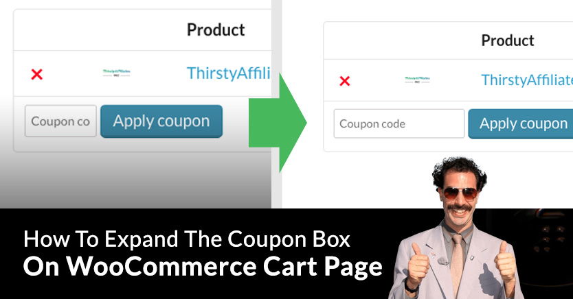 Expand Coupon Entry Box On WooCommerce Cart Page
