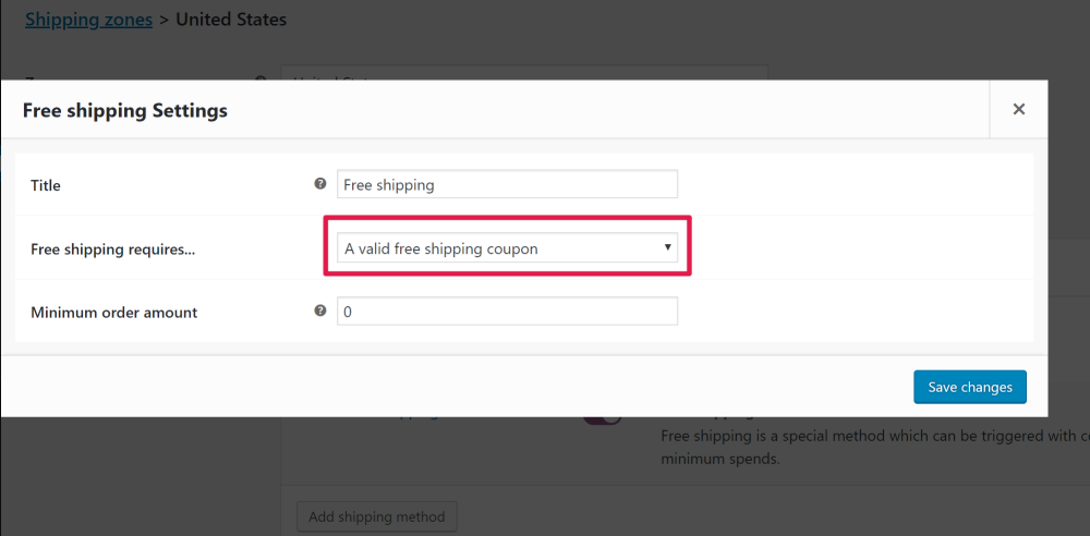 WooCommerce Free Shipping Coupon require free shipping coupon