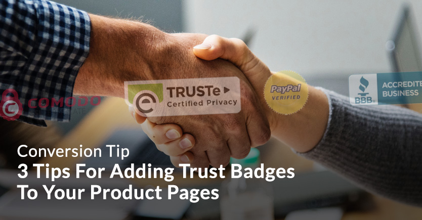 Trust badges on product pages