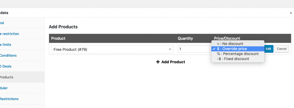 WooCommerce Free Product With Purchase Step 3
