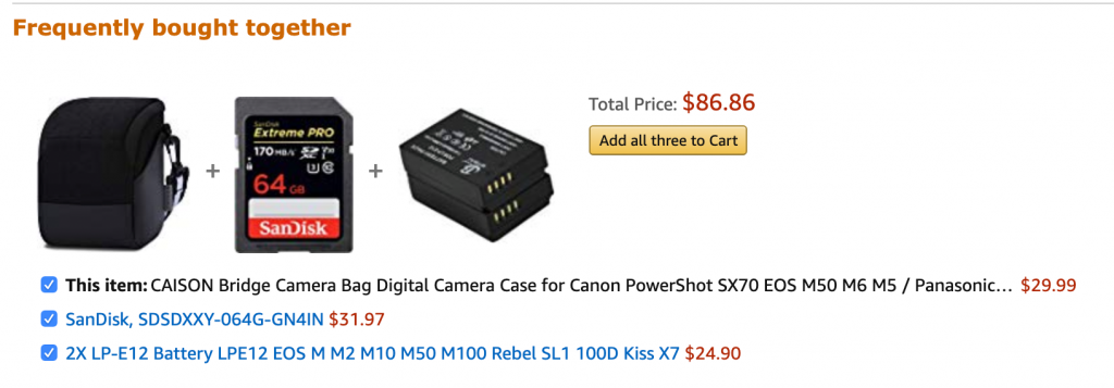 Amazon are the masters at product bundling