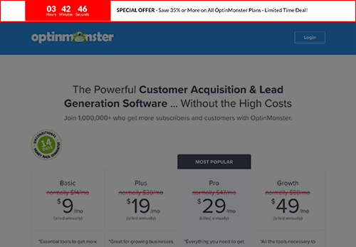 Create site-wide optin bars with OptinMonster