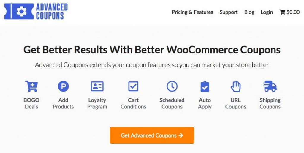 The Advanced Coupons website.