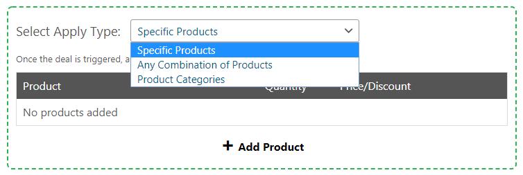 Choosing an apply type.