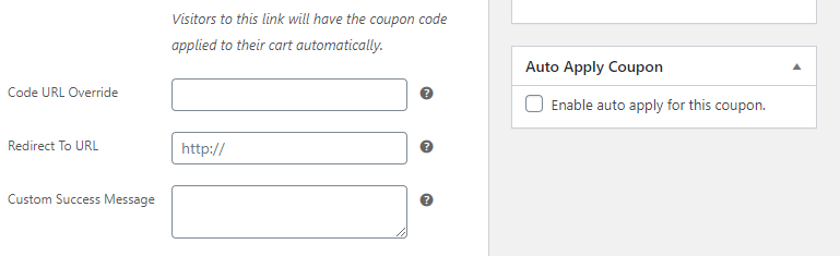Enabling the auto-apply setting for a coupon.