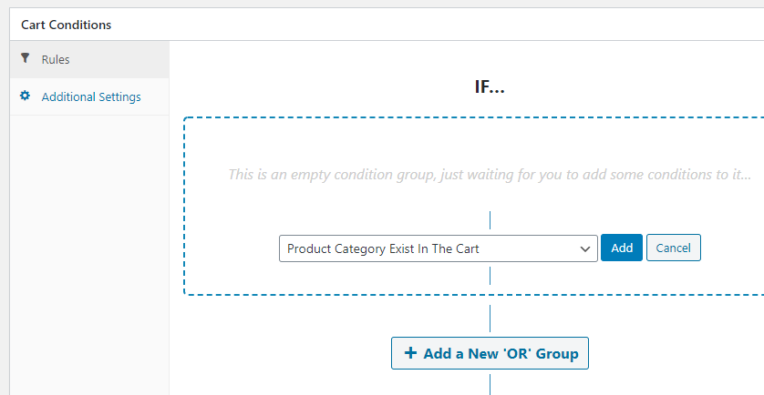 Adding cart conditions for your coupons.