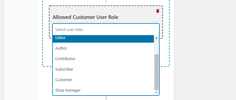 Creating a coupon for specific user roles.