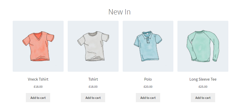 Offering shirts on your WooCommerce store.