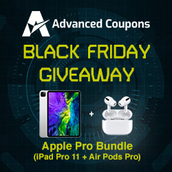 Advanced Coupons Black Friday Giveaway 2020