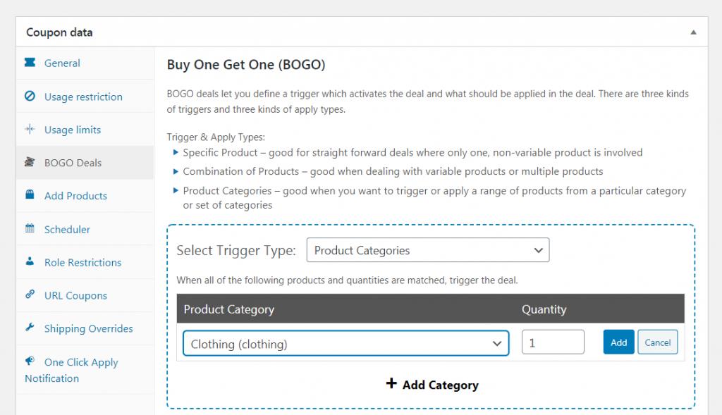 Creating a BOGO deal.